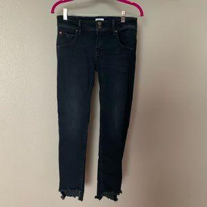 Hudson Jeans size 28 distressed bottom